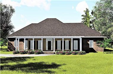4-Bedroom, 2614 Sq Ft Southern House - Plan #123-1004 - Front Exterior