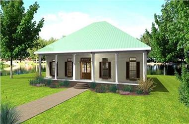 3-Bedroom, 1640 Sq Ft Country House Plan - 123-1006 - Front Exterior