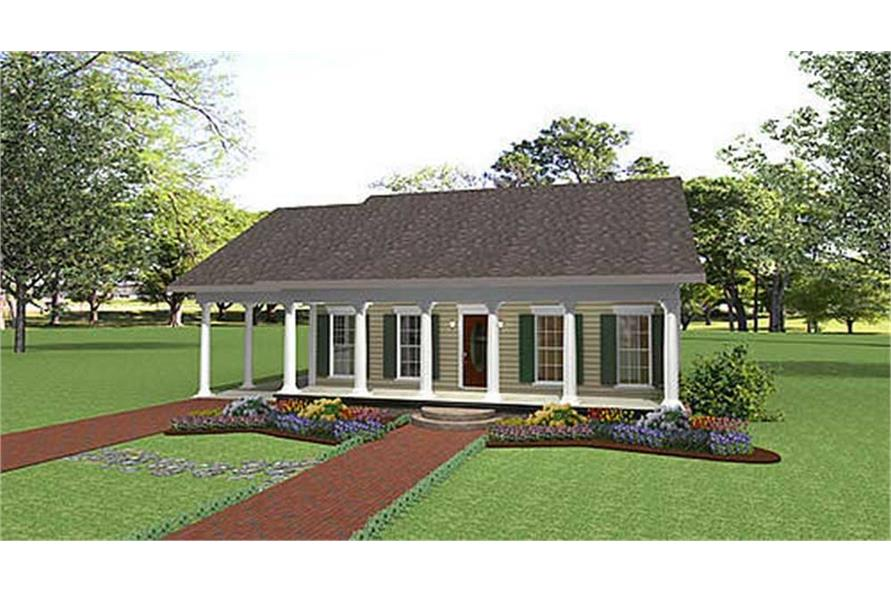 Home Plan Rendering of this 2-Bedroom,1152 Sq Ft Plan -1152