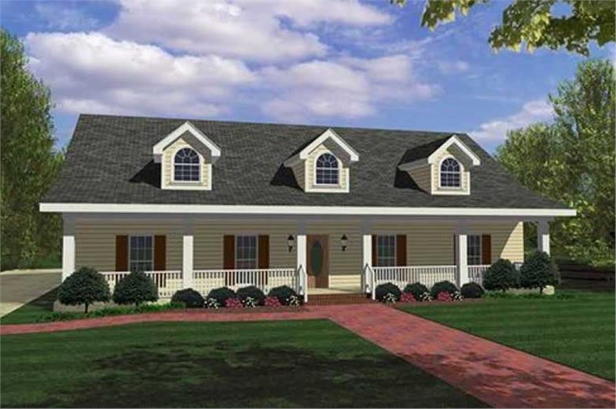 4-Bedroom, 1856 Sq Ft Country House Plan - 123-1008 - Front Exterior