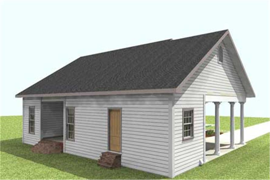 Home Plan 3D Image of this 2-Bedroom,1301 Sq Ft Plan -123-1009