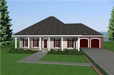 3-Bedroom, 2091 Sq Ft European House Plan - 123-1010 - Front Exterior