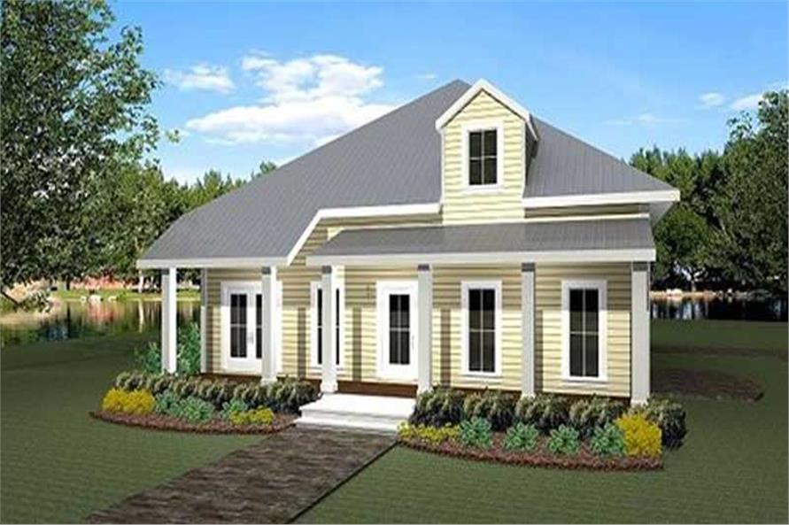3-Bedroom, 2208 Sq Ft Country House Plan - 123-1011 - Front Exterior