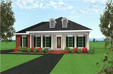 3-Bedroom, 1575 Sq Ft Country Home Plan - 123-1013 - Main Exterior