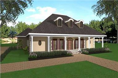 3-Bedroom, 2446 Sq Ft European Home Plan - 123-1014 - Main Exterior