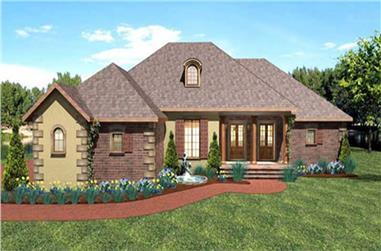 3-Bedroom, 2197 Sq Ft Southern Home Plan - 123-1016 - Main Exterior