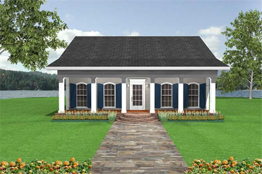 2-Bedroom, 1097 Sq Ft Country House Plan - 123-1017 - Front Exterior