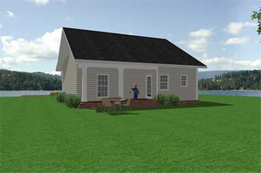 House Plan DP-1107 Rear Elevation