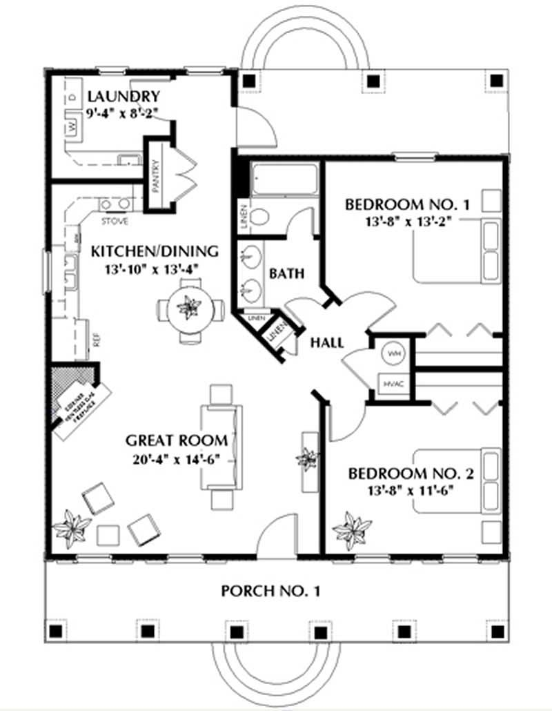 House Plan DP-1107 Main Floor Plan
