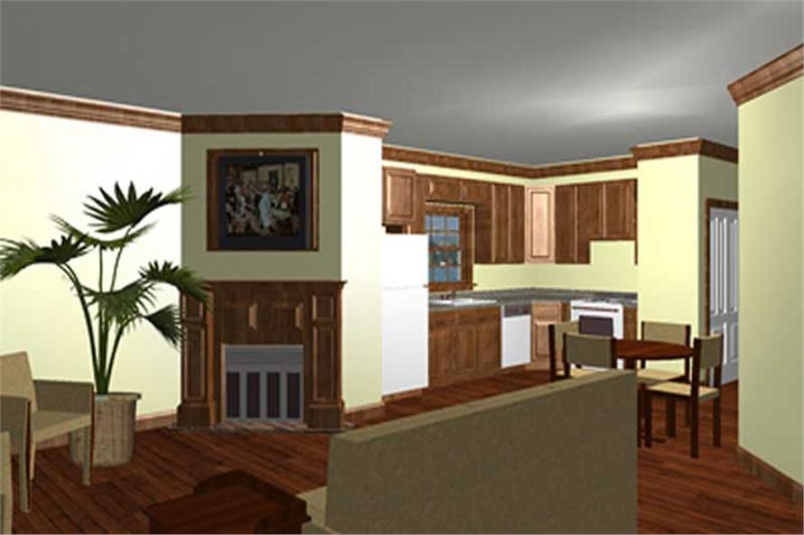 House Plan DP-1107 Front Room Perspective