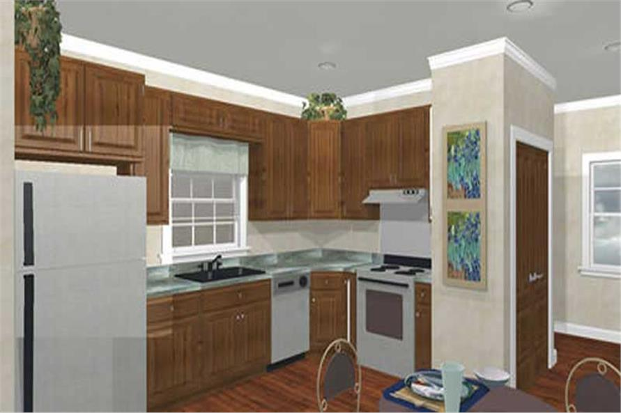 Home Plan 3D Image of this 2-Bedroom,1152 Sq Ft Plan -123-1018