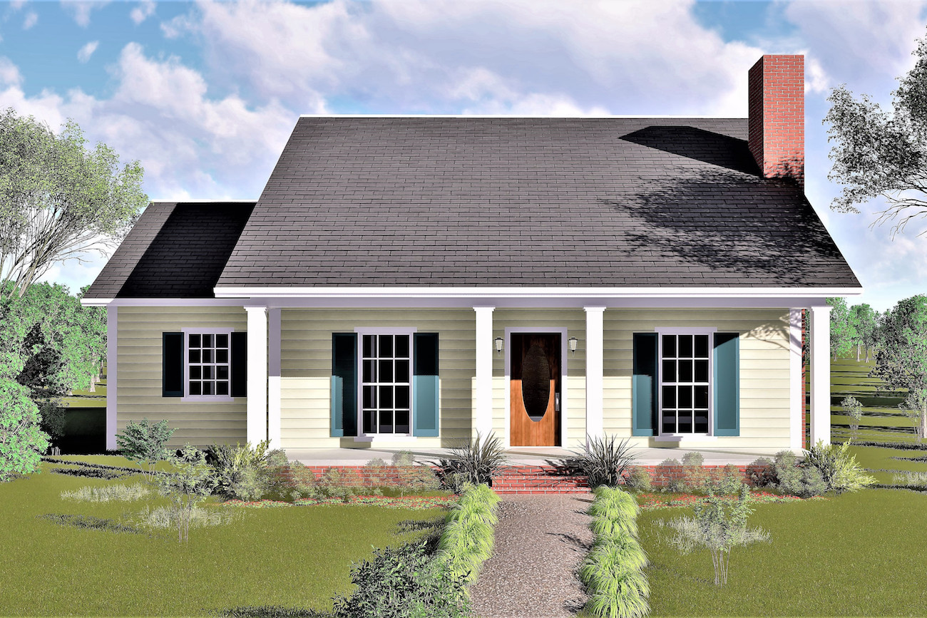 3 Bedrm, 1377 Sq Ft Country House Plan #123-1019