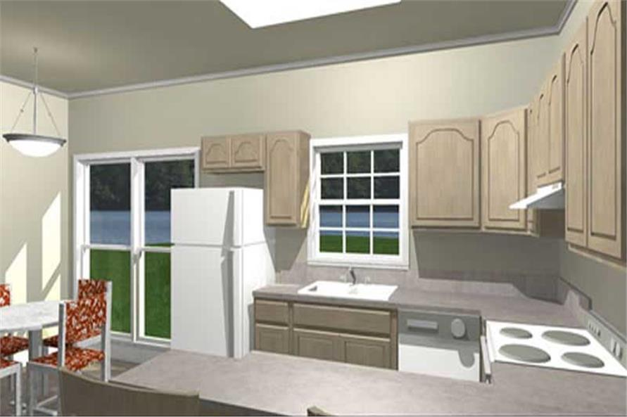 Home Plan 3D Image of this 3-Bedroom,1377 Sq Ft Plan -1377