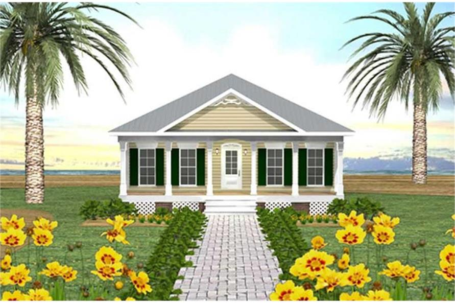 Home Plan Rendering of this 3-Bedroom,1587 Sq Ft Plan -123-1020