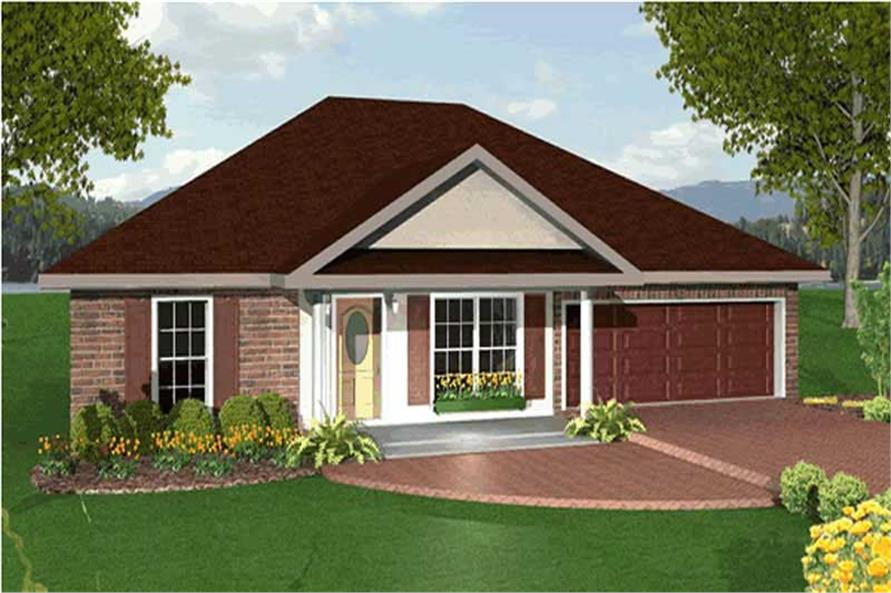 3-Bedroom, 1551 Sq Ft Ranch Home Plan - 123-1021 - Main Exterior