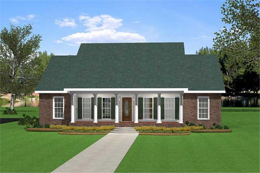 3-Bedroom, 2046 Sq Ft Southern Home Plan - 123-1023 - Main Exterior