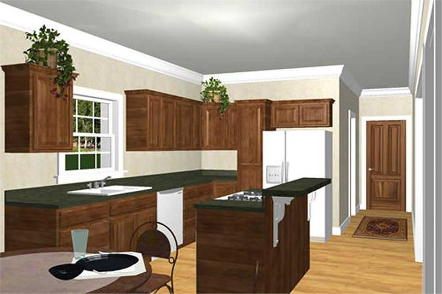 Home Plan 3D Image of this 3-Bedroom,2046 Sq Ft Plan -123-1023