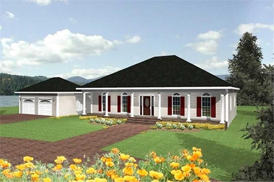 3-Bedroom, 2052 Sq Ft Southern Home Plan - 123-1024 - Main Exterior