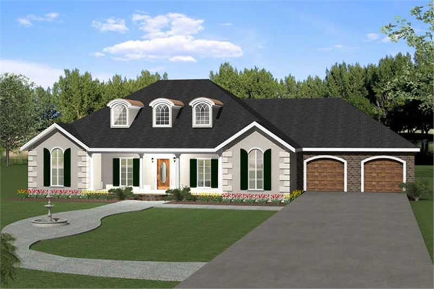 5-Bedroom, 2550 Sq Ft European House Plan - 123-1026 - Front Exterior