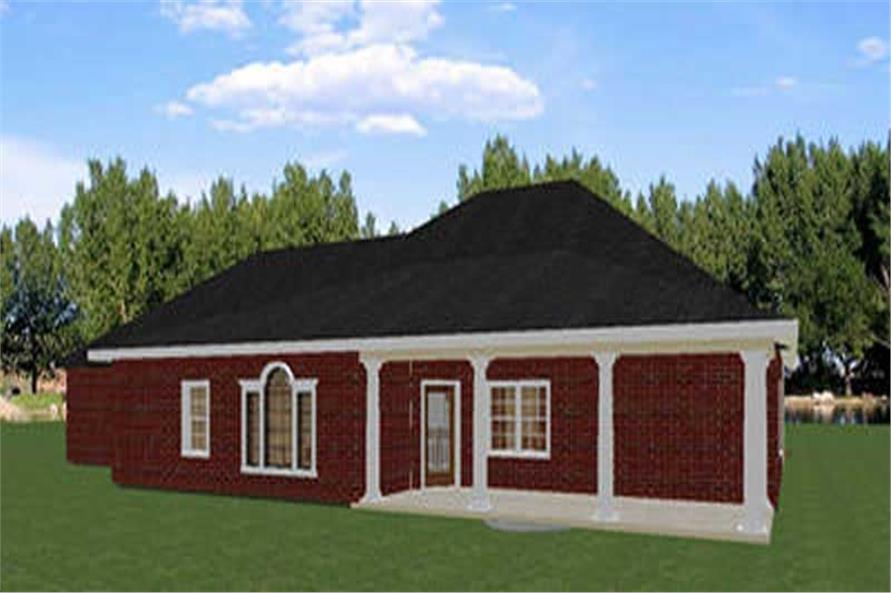 Home Plan Rear Elevation of this 5-Bedroom,2550 Sq Ft Plan -123-1026
