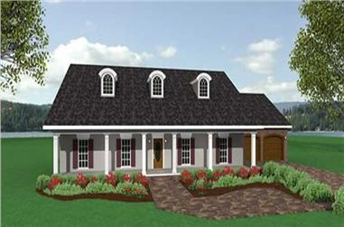 3-Bedroom, 2091 Sq Ft Southern Home Plan - 123-1027 - Main Exterior