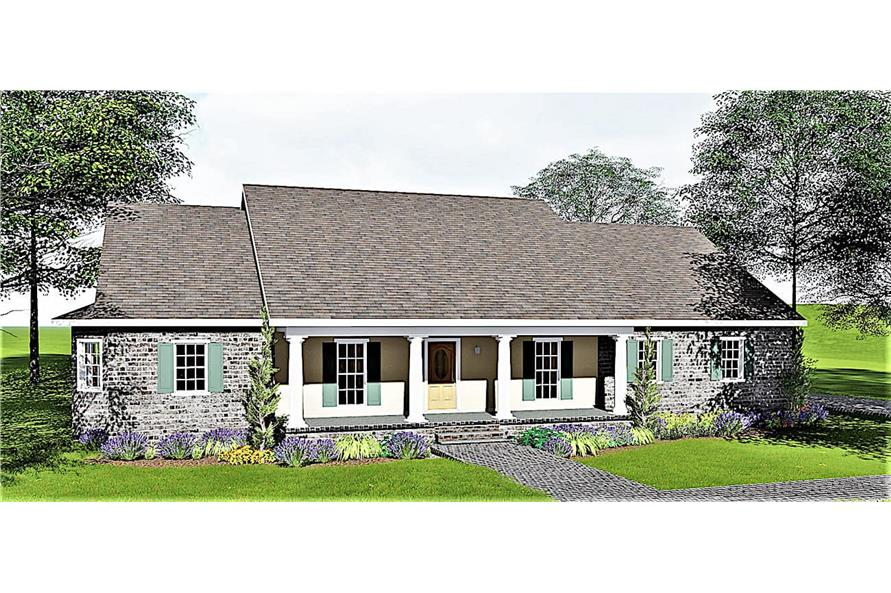 4-Bedroom, 2293 Sq Ft Southern House - Plan #123-1029 - Front Exterior