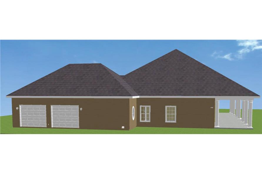 Side View of this 3-Bedroom,2775 Sq Ft Plan -123-1030
