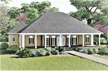 3-Bedroom, 2775 Sq Ft Southern House - Plan #123-1030 - Front Exterior