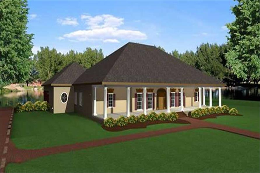 3-Bedroom, 2775 Sq Ft Southern House Plan - 123-1030 - Front Exterior