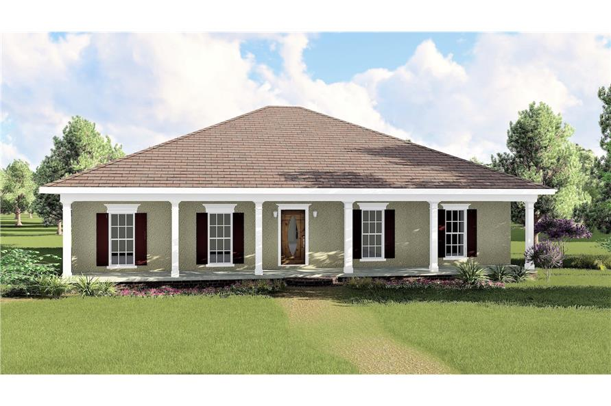 Home Plan Rendering of this 3-Bedroom,1500 Sq Ft Plan -123-1031