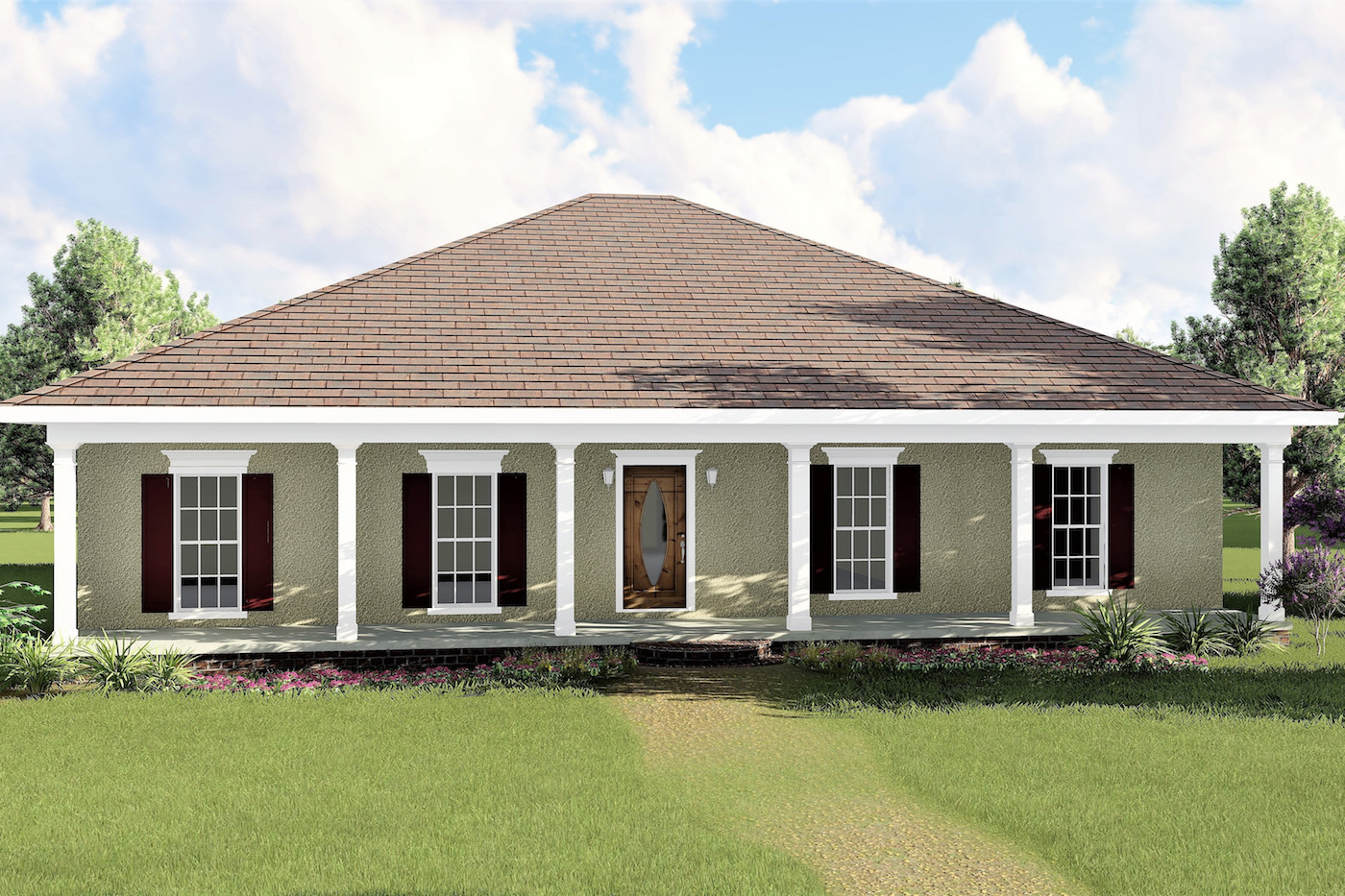 3 Bedrm, 1500 Sq Ft European House Plan #123-1031