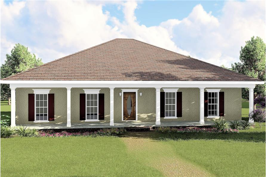 3-Bedroom, 1500 Sq Ft European Home Plan - 123-1031 - Main Exterior