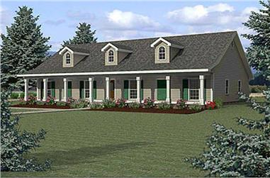 4-Bedroom, 2354 Sq Ft Country Home Plan - 123-1032 - Main Exterior