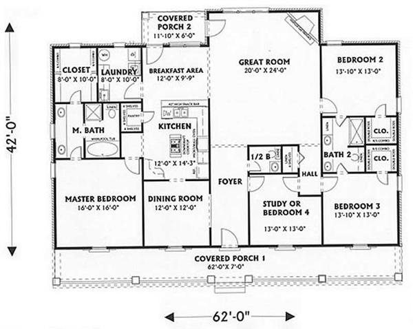 House Plan DP-2353 Main Floor Plan