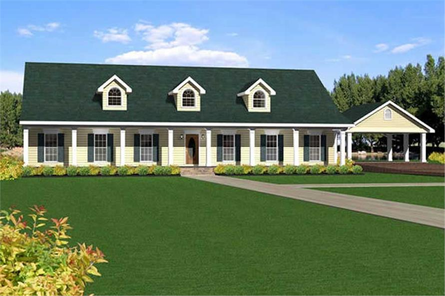 4-Bedroom, 2492 Sq Ft Country House Plan - 123-1033 - Front Exterior