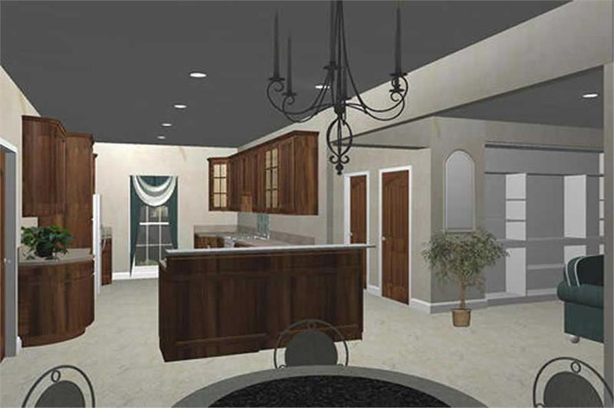 Home Plan 3D Image of this 4-Bedroom,2492 Sq Ft Plan -123-1033