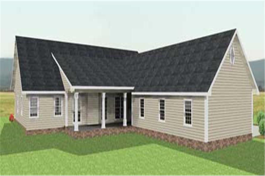 Home Plan Rear Elevation of this 4-Bedroom,2435 Sq Ft Plan -123-1034