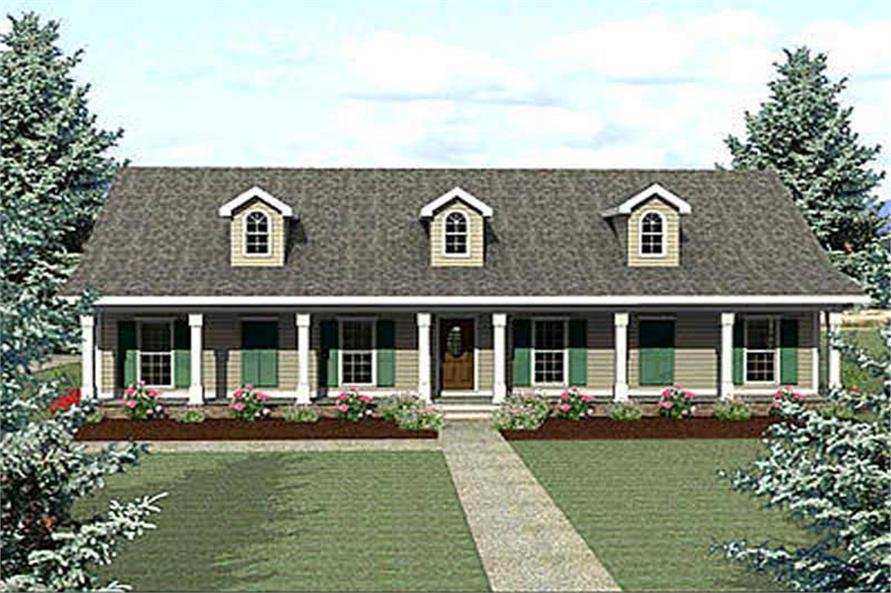 4-Bedroom, 2435 Sq Ft Country House Plan - 123-1034 - Front Exterior