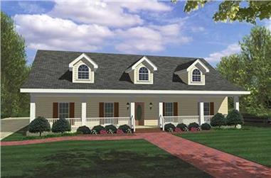 4-Bedroom, 1856 Sq Ft Country House Plan - 123-1036 - Front Exterior