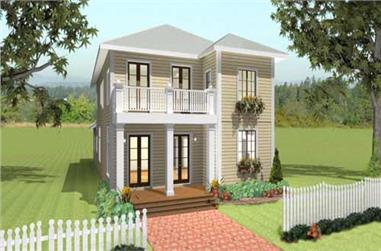 4-Bedroom, 2415 Sq Ft Southern Home Plan - 123-1037 - Main Exterior