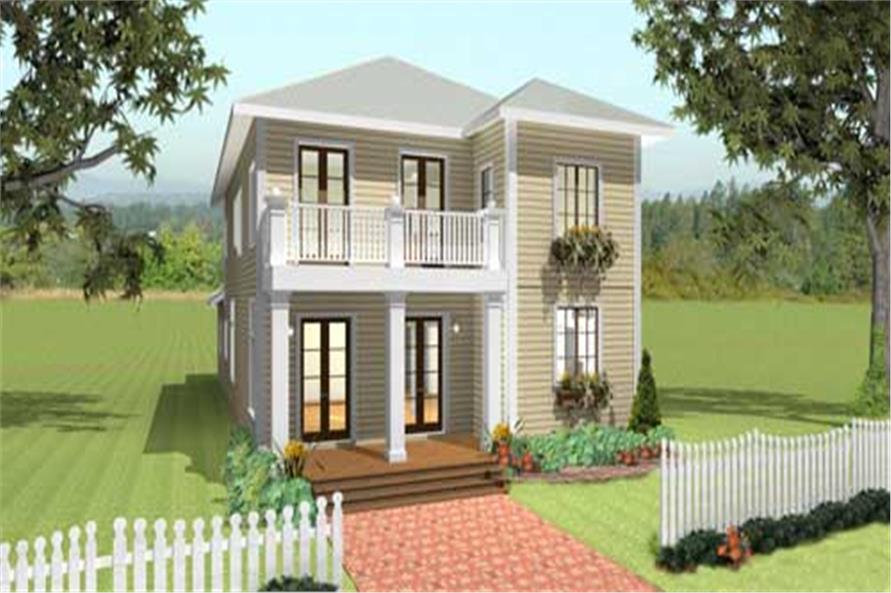 This is a computer generated rendering of these Southern Homeplans.