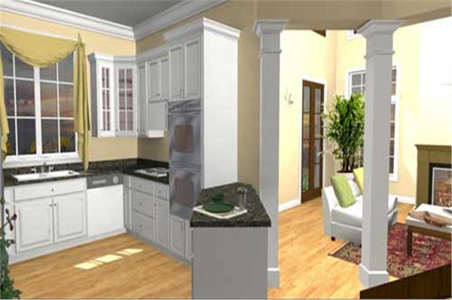 Home Plan 3D Image of this 4-Bedroom,2415 Sq Ft Plan -2415