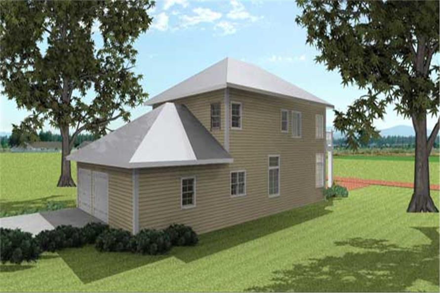 Home Plan Rendering of this 4-Bedroom,2415 Sq Ft Plan -2415