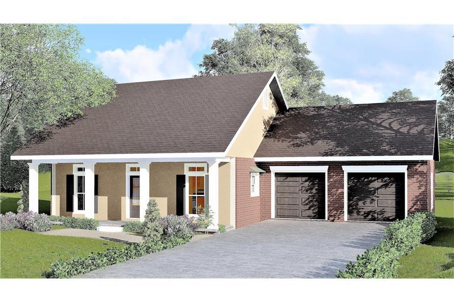 123-1038: Home Plan Rendering