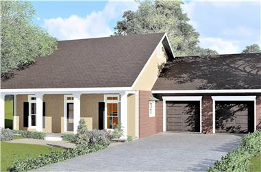3-Bedroom, 1487 Sq Ft Country House Plan - 123-1038 - Front Exterior