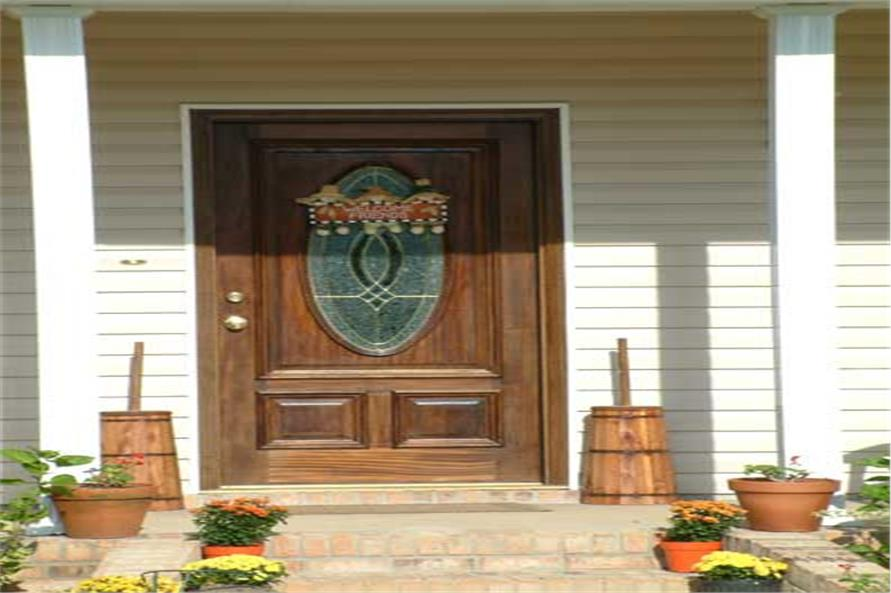 Front Door of this 4-Bedroom,2156 Sq Ft Plan -123-1039