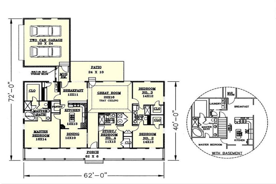 Home Plan Other Image of this 4-Bedroom,2156 Sq Ft Plan -123-1039