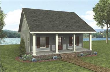 This is a computerized rendering of these Country House Plans.