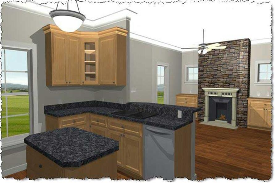Home Plan 3D Image of this 2-Bedroom,992 Sq Ft Plan -992