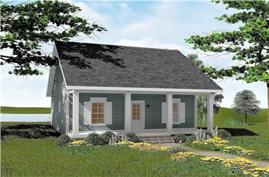 2-Bedroom, 992 Sq Ft Small House Plans - 123-1042 - Main Exterior